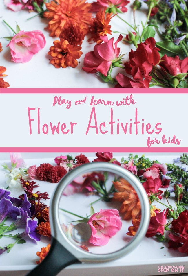 Simple Flower Activities for Kids. Flower math, flower science, flower crafts for kids