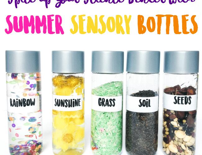 Reignite Children's Interest in Science with FUN Summer Sensory Bottles for Kids