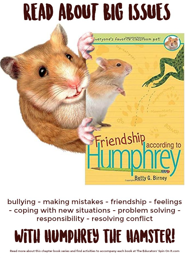 Humphrey Book Series for Kids deals with BIG issues including; responsibility, understanding differences , making friends , learning from mistakes, problem solving and more. Read more about the Humphrey Chapter Book series and find activity ideas for kids to read, write and make with each book.