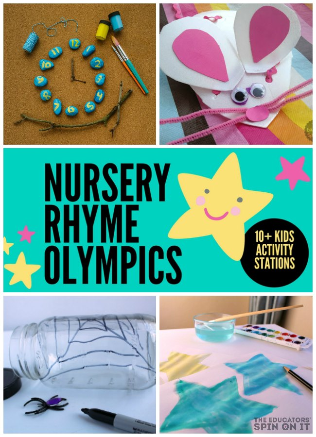 Nursery Rhyme Olympics for Kids. 10+ Learning Ideas to go with popular children's nursery Rhymes from Mother Goose
