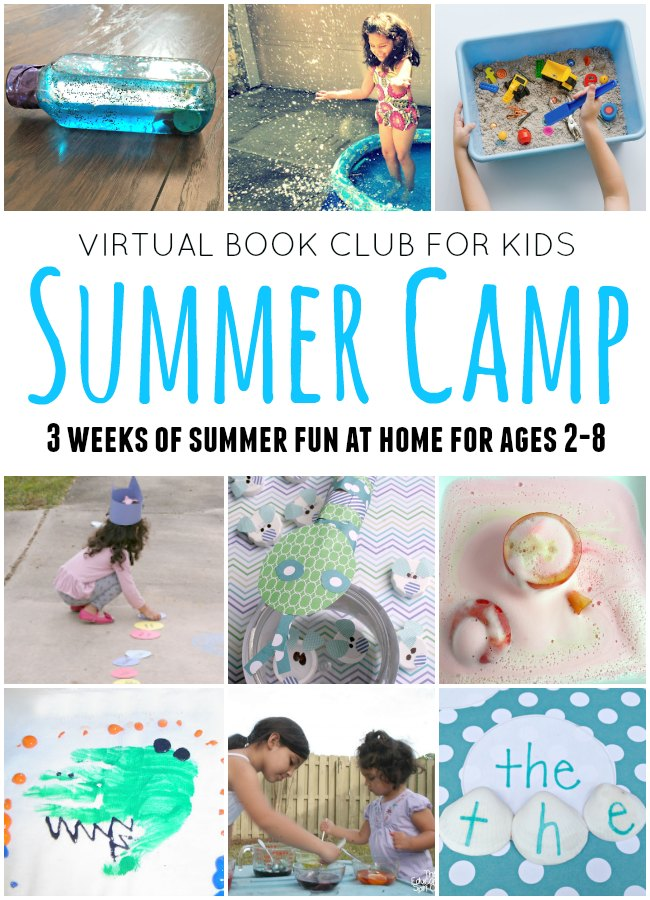 Virtual Book Club for Kids Summer Camp. Join us for 3 weeks of book themed fun with your child at home. Perfect for ages 18 months to 8 years old. Sibling summer camp ideas too! Starts June 12, 2017. Early bird price is 14.99