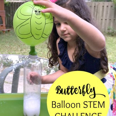Caterpillar to Butterfly Science Activity with Balloons