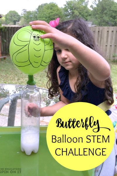 Butterfly Balloon STEM Challenge for Kids