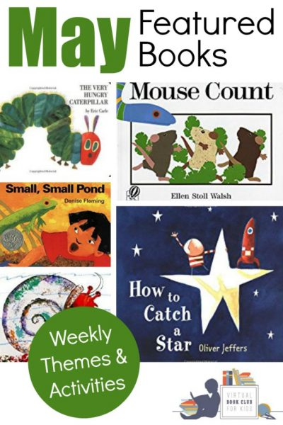 May Book List for the Virtual Book Club for Kids