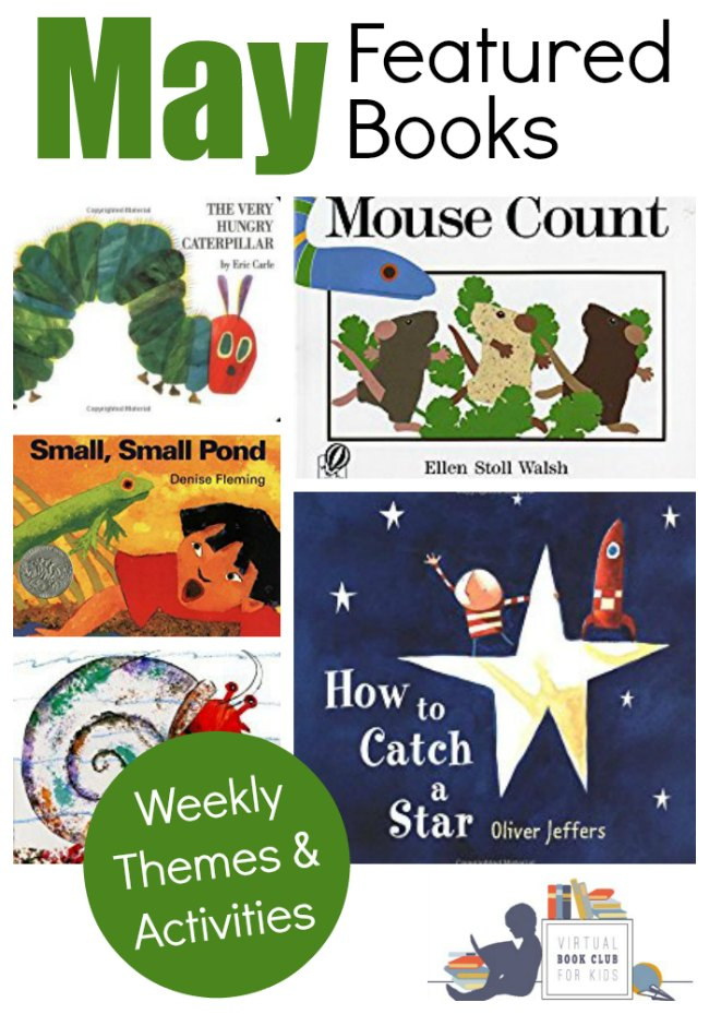 May Books List featured at the Virtual Book Club for Kids