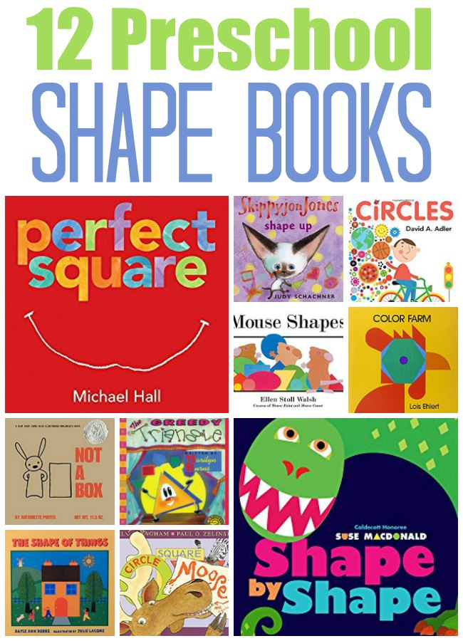 12 shape books for preschool