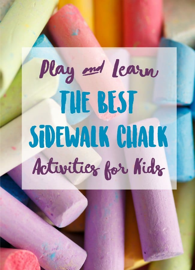 Play and Learn: The BEST Sidewalk Chalk Activities for Kids. Sidewalk chalk math, sidewalk chalk reading, sidewalk chalk science and MORE!