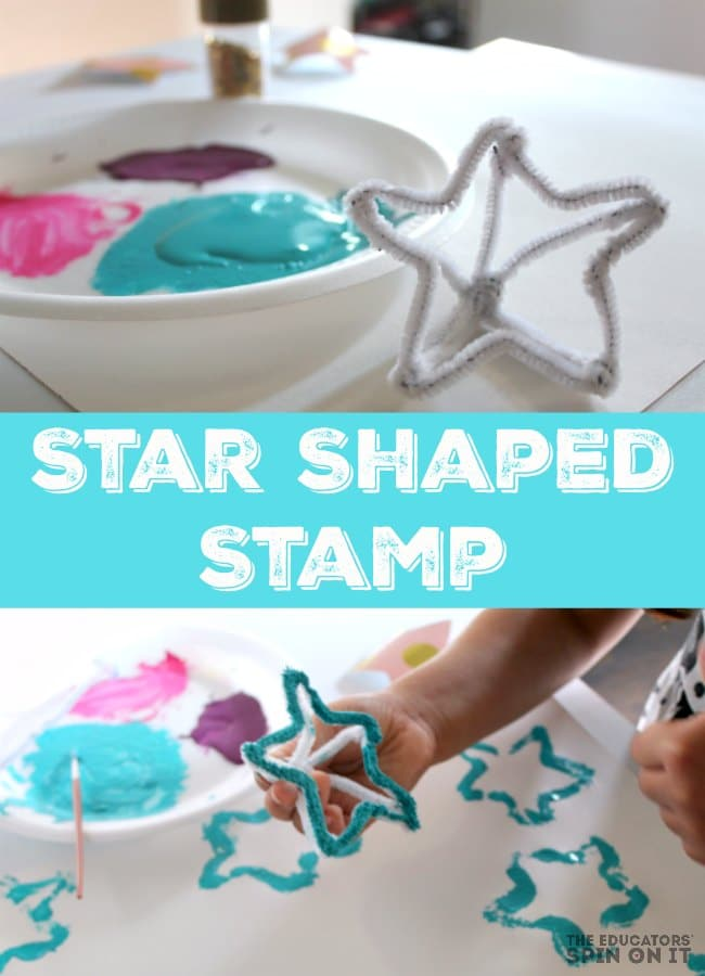 Star Shaped Stamp For Kids To Paint And Create With Something Special Someone