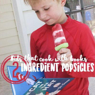 Cat in the Hat inspired 2 Ingredient Popsicles