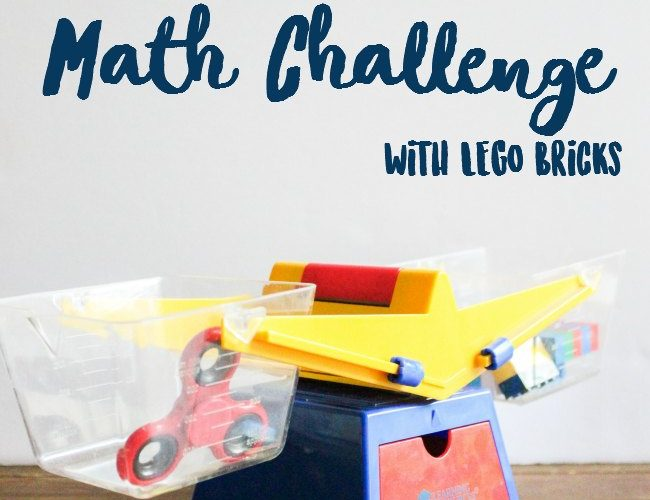 Fidget Spinner Math Challenge with LEGO Bricks