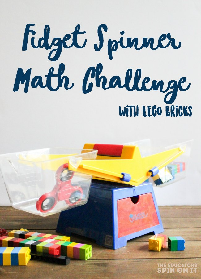 How much does your fidget spinner weight? Grab a scale and some LEGO bricks to try your hand at this fidget spinner math challenge.
