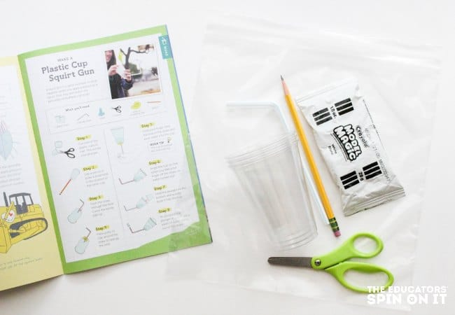 Sample STEM Activity bag to use as a homeschooling extension to the Tinker Crate project