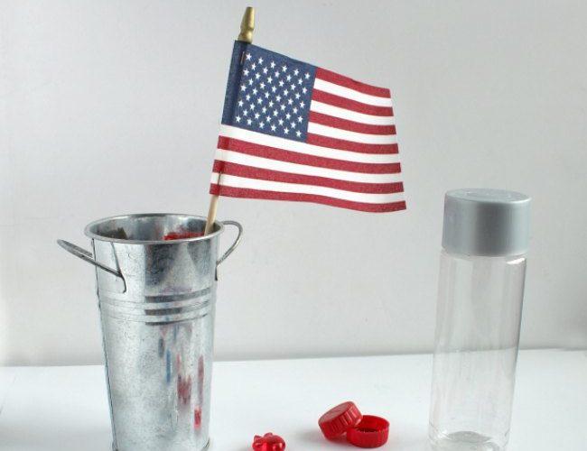 Patriotic Magnetic Sensory Bottle for Kids