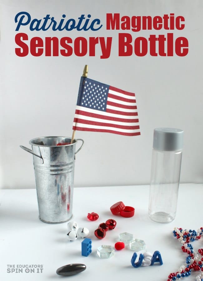 Patriotic Magnetic Sensory Bottle for Kids