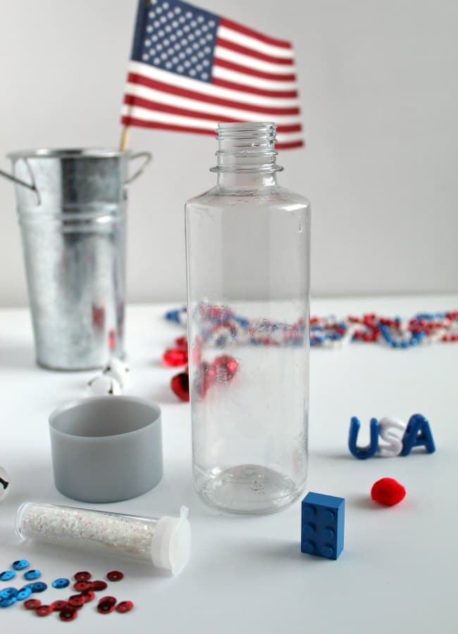 Red, White and Blue Sensory Bottle for Kids