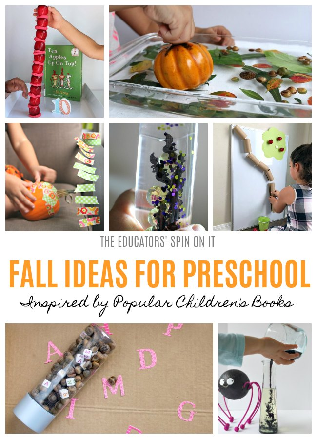 FALL IDEAS FOR PRESCHOOLERS INSPIRED BY BOOKS