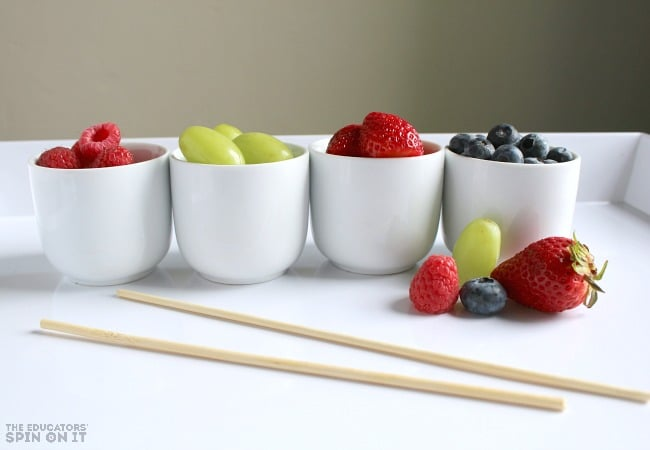 Making After School Snack with Fruit Kebobs