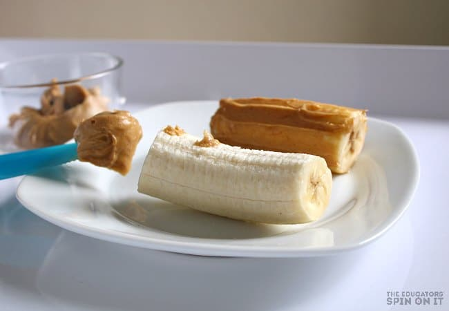 Peanut Butter Banana After School Snack Idea