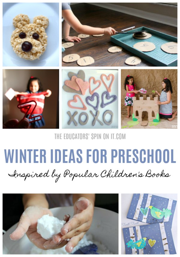 Winter Ideas for Preschool Inspired by Popular Children's Books