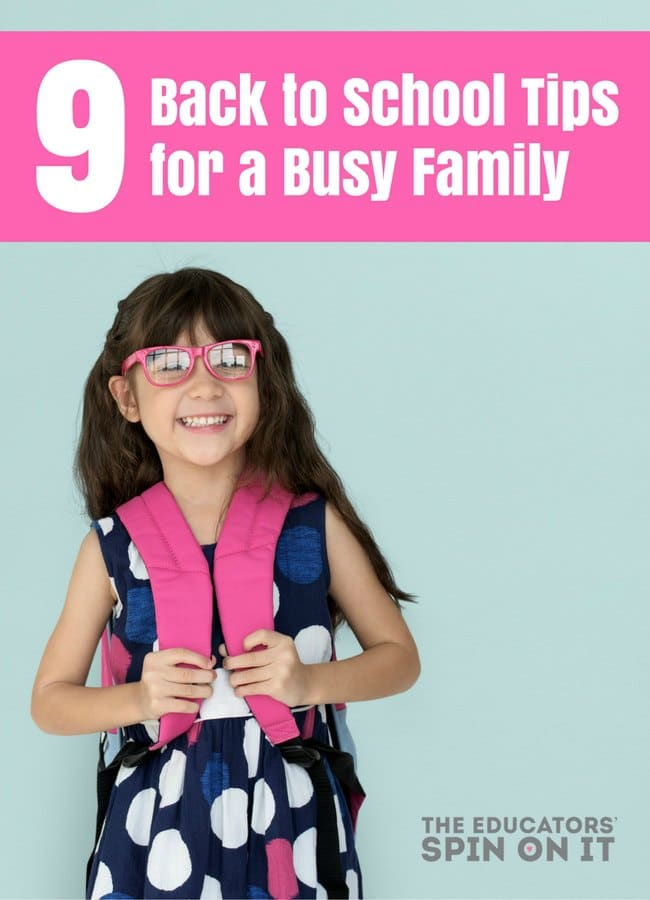 Back to School Tips for a Busy Family