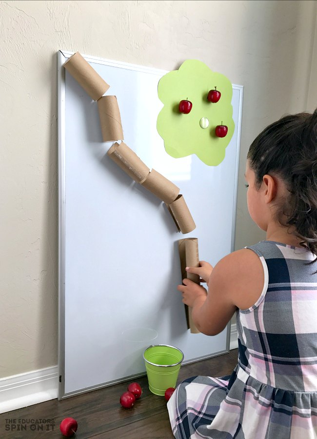 Apple Themed STEM Activity for Preschoolers