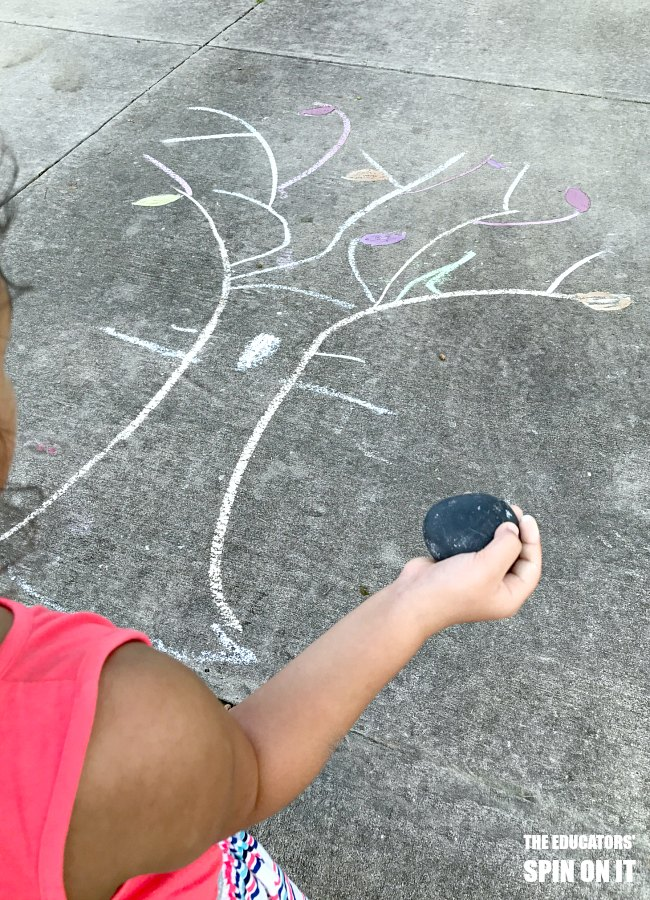 Fall Leaf Movement Activity with Sidewalk Chalk