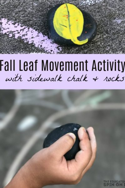 Fall Leaf Movement Activity with Sidewalk Chalk for Preschoolers