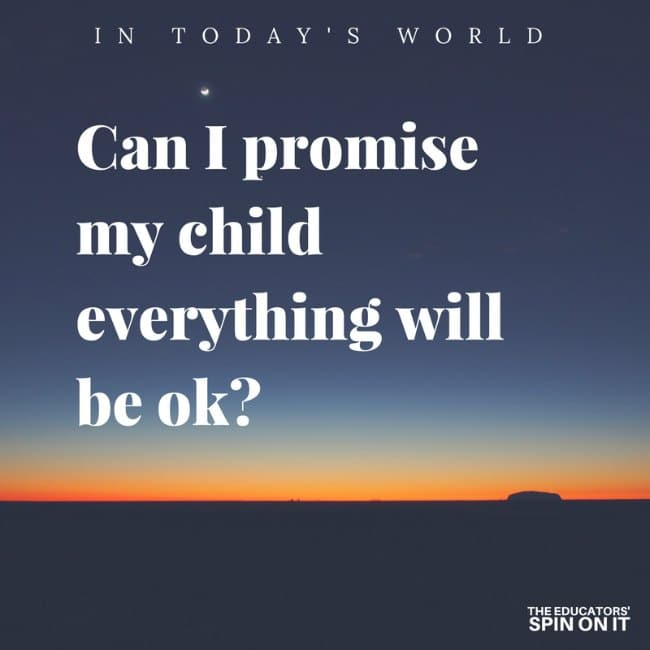 Can I promise my kids everything will be ok? Tips for talking with your child about tragic events.