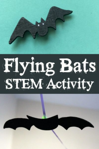 Flying Bats STEM Activity for Kids this Halloween
