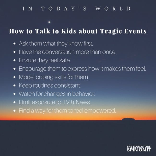 How to Talk to Kids About Tragic Evetns