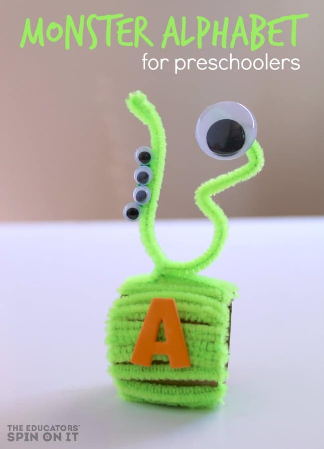 Monster Alphabet Activity for Preschoolers