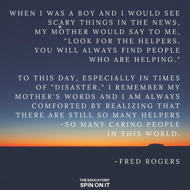 Mr. Rogers Quote about Look for the Helpers