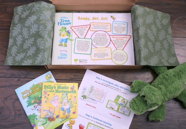 Opening Dilly's Tree House Box Kit for STEM with Preschoolers