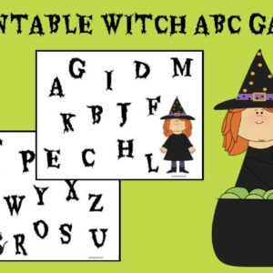 PRINTABLE WITCH ABC GAME