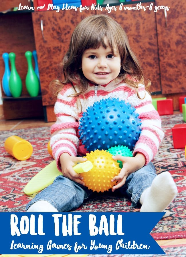 Play and learn with ball games for kids. Learning game variations for roll the ball.
