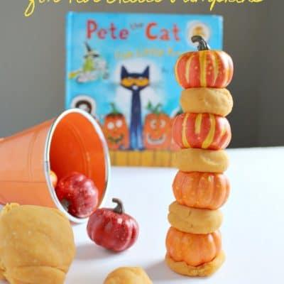 STEM Activity for Five Little Pumpkins with pumpkin playdough