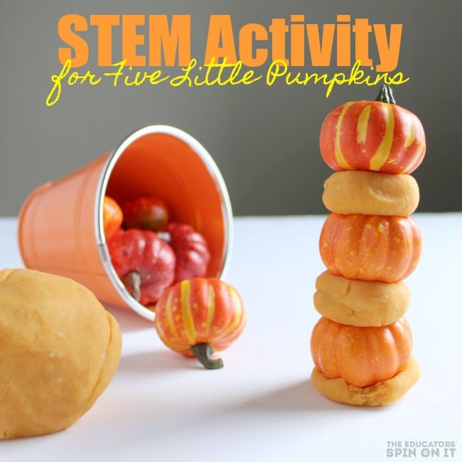 STEM Activity for Five Little pumpkins for Preschoolers