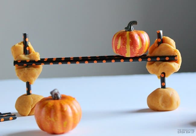 STEM Activity with Pumpkins for Five Little Pumpkins for Preschoolers