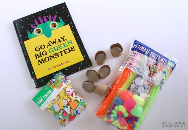 Supplies for Monster Themed Necklace Craft