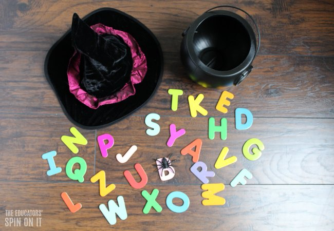 WITCH ABC HIDE AND SEEK GAME WITH PRINTABLE