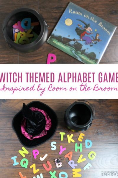 Witch Themed Alphabet Hide and Seek Game