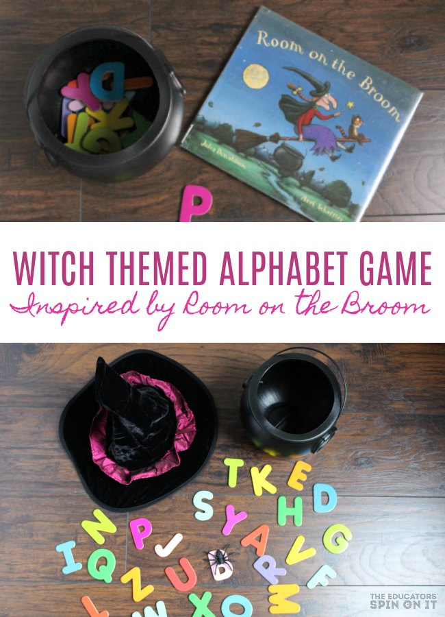 Witch Themed Alphabet Game inspired by Room on the Broom by Julia Donaldson