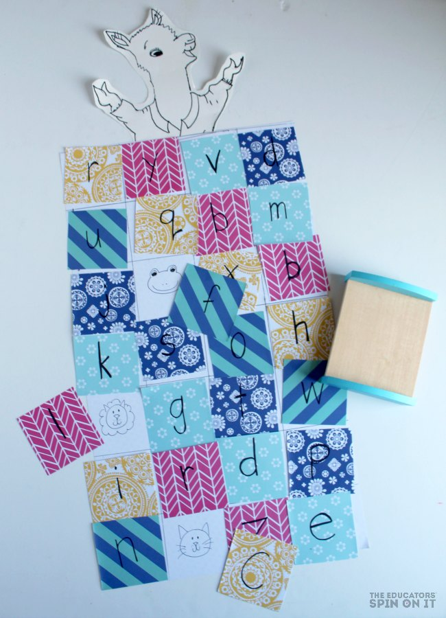 Alphabet Quilt Activity for Llama Llama Red pajama