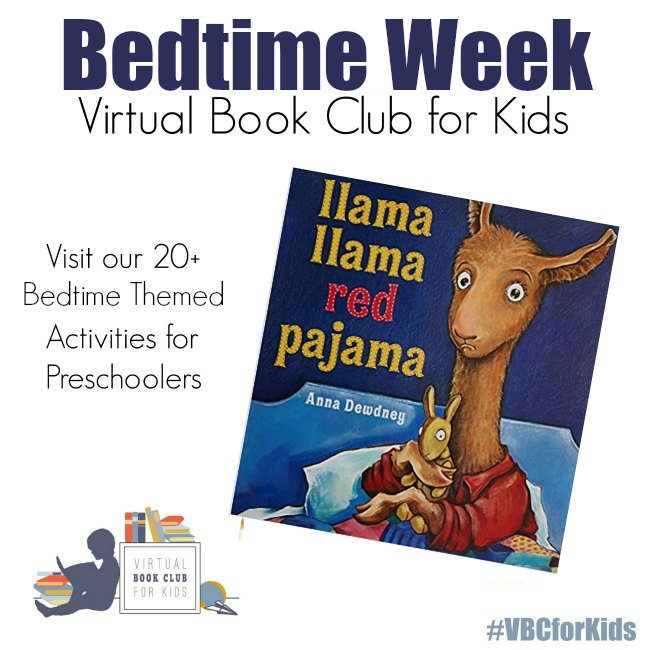 Bedtime Week for Virtual book Club for Kids