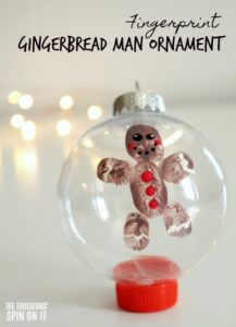 Fingerprint Gingerbread Man Ornament
