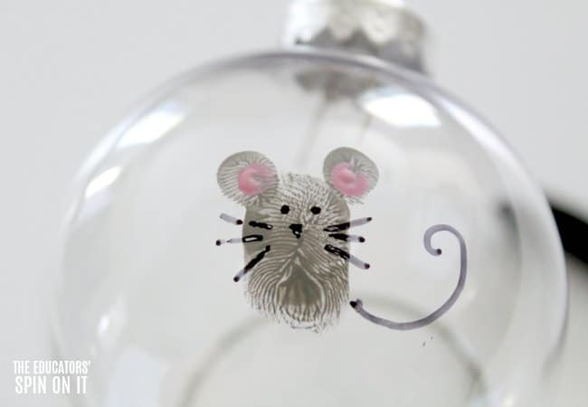 Fingerprint Mouse Art inspired by If You Give a Mouse a Cookie