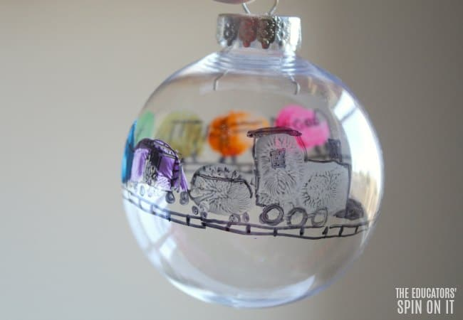 Freight Train inspired Christmas Train Ornament