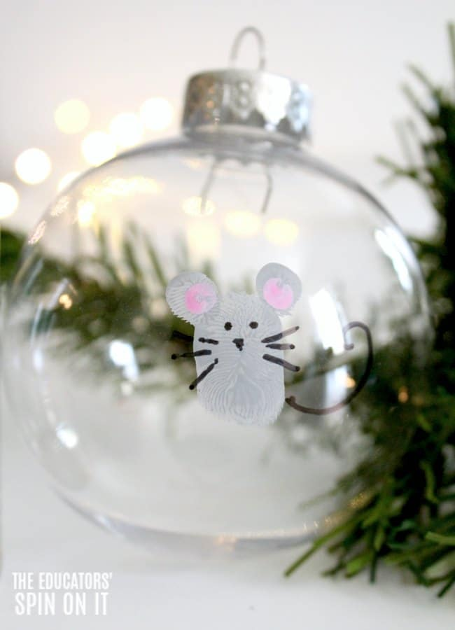 If You Give a Mouse Inspired Ornament for Kids to make