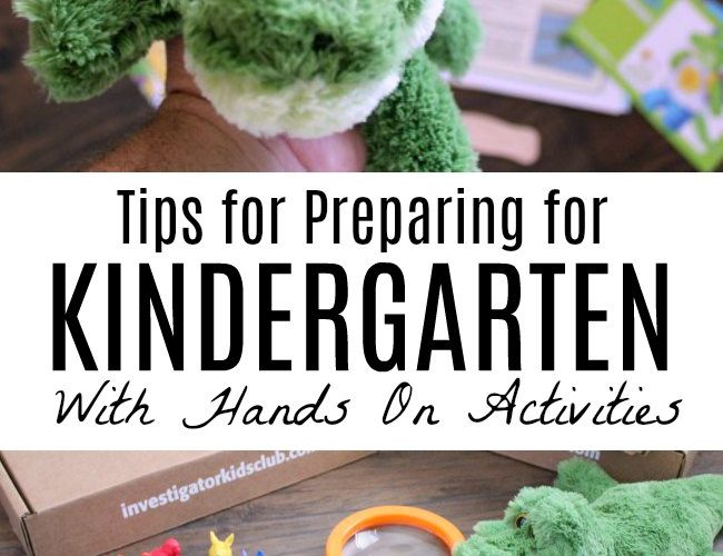 Preparing for Kindergarten with Hands On Activities