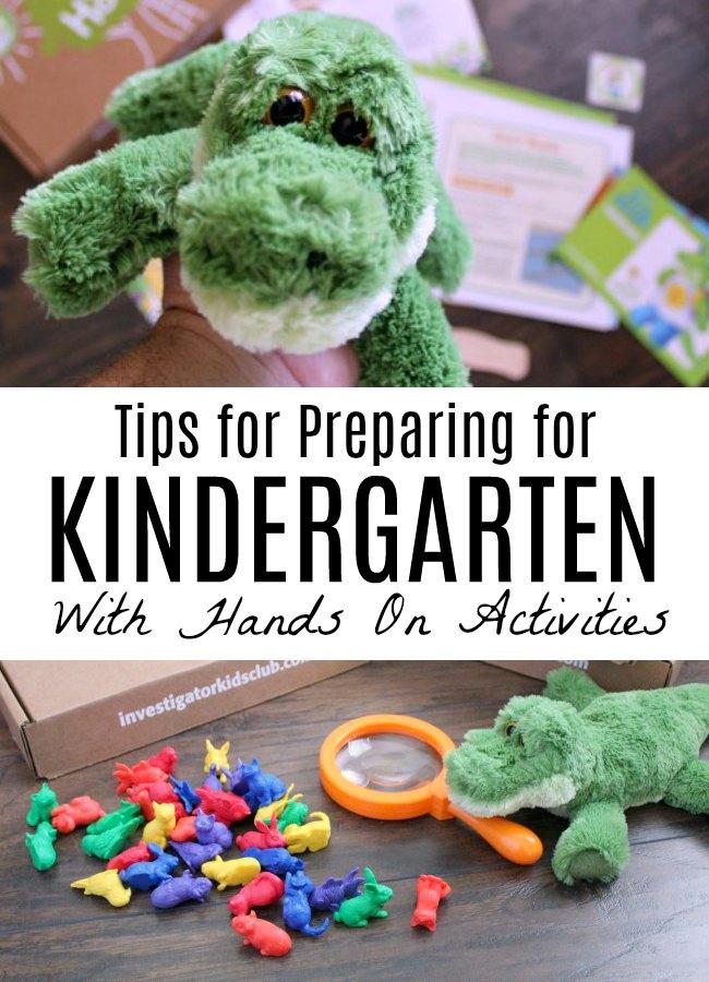 Tips for Preparing for Kindergarten with Hands On Activities